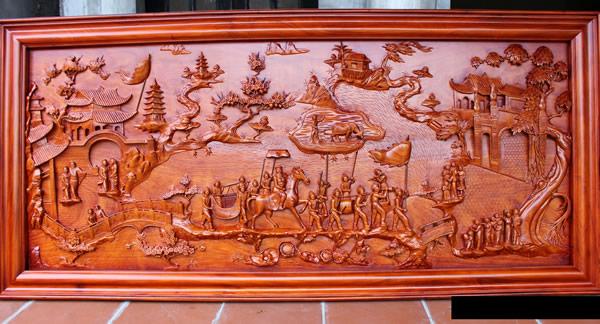 Gia công tranh gỗ uy tín tại TPHCM 1