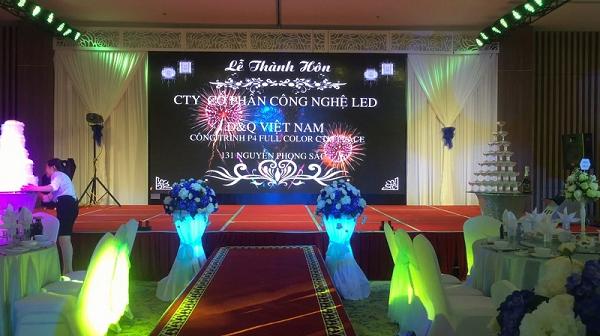 màn hình LED sân khấu tiệc cưới 1
