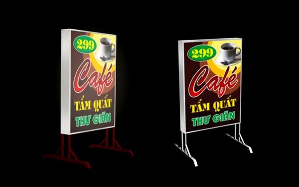biển hiệu quảng cáo hộp đèn 3